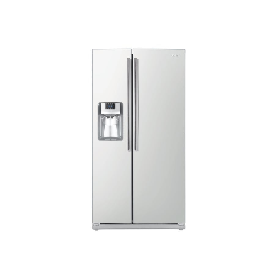 Samsung 25.6-cu ft Side-by-Side Refrigerator with Single Ice Maker (White) ENERGY STAR