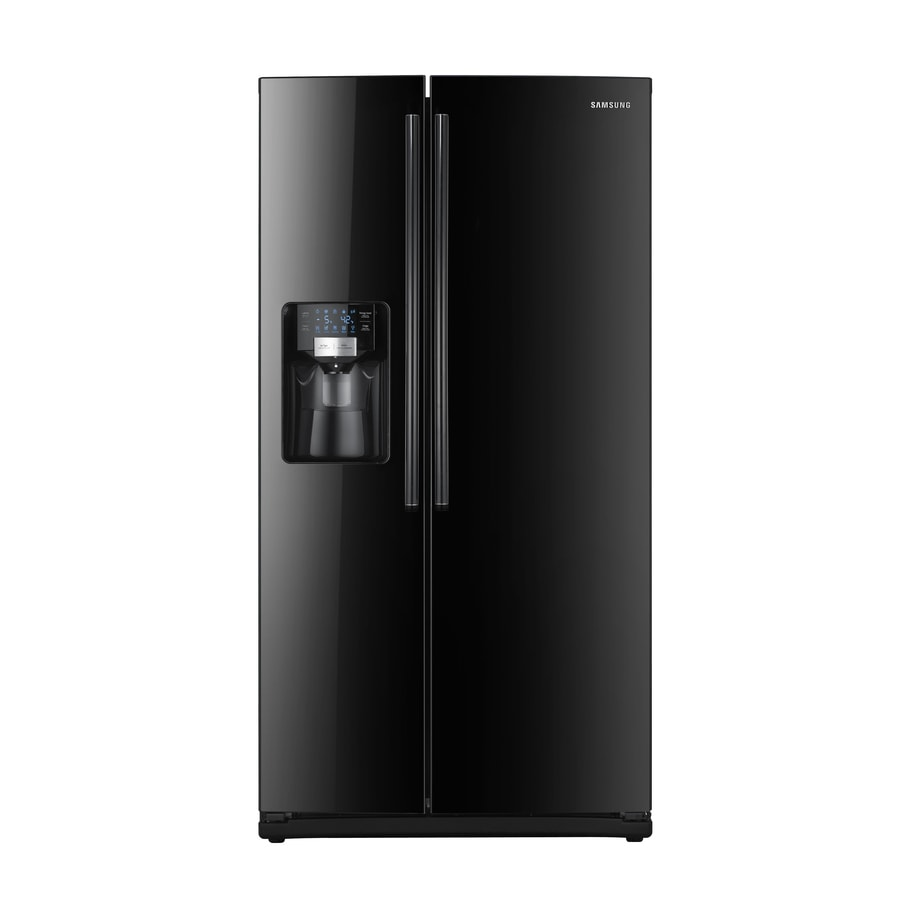 Samsung 25.5-cu ft Side-By-Side Refrigerator with Single Ice Maker (Black) ENERGY STAR Certified