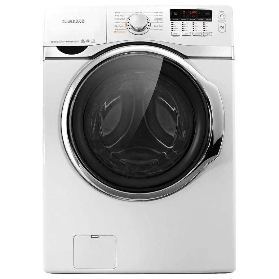Samsung 7.4-cu ft Stackable Gas Dryer with Steam Cycle (White)