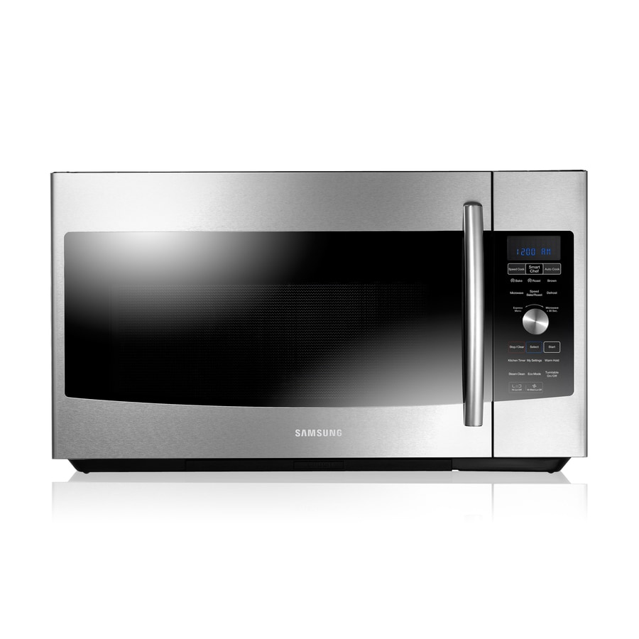 Samsung 1.7-cu ft Over-The-Range Convection Oven Microwave with Sensor Cooking Controls (Stainless Steel) (Common: 30-in; Actual: 29.87-in)
