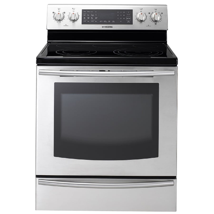 Samsung Smooth Surface Freestanding 5-Element 5.9-cu ft Self-Cleaning Convection Electric Range (Stainless Steel) (Common: 30-in; Actual: 29.9062-in)