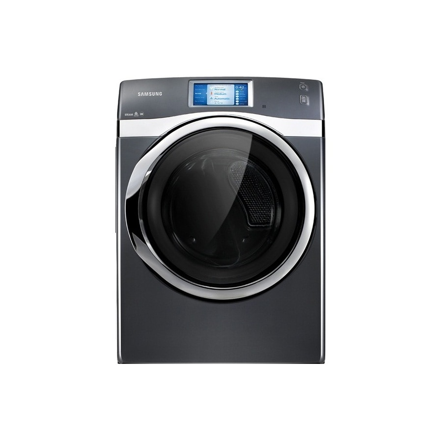 Samsung 7.5-cu ft Stackable Gas Dryer with Steam Cycle (Onyx)