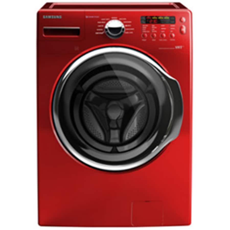Samsung 3.7-cu ft High-Efficiency Stackable Front-Load Washer with Steam Cycle (Tango Red) ENERGY STAR