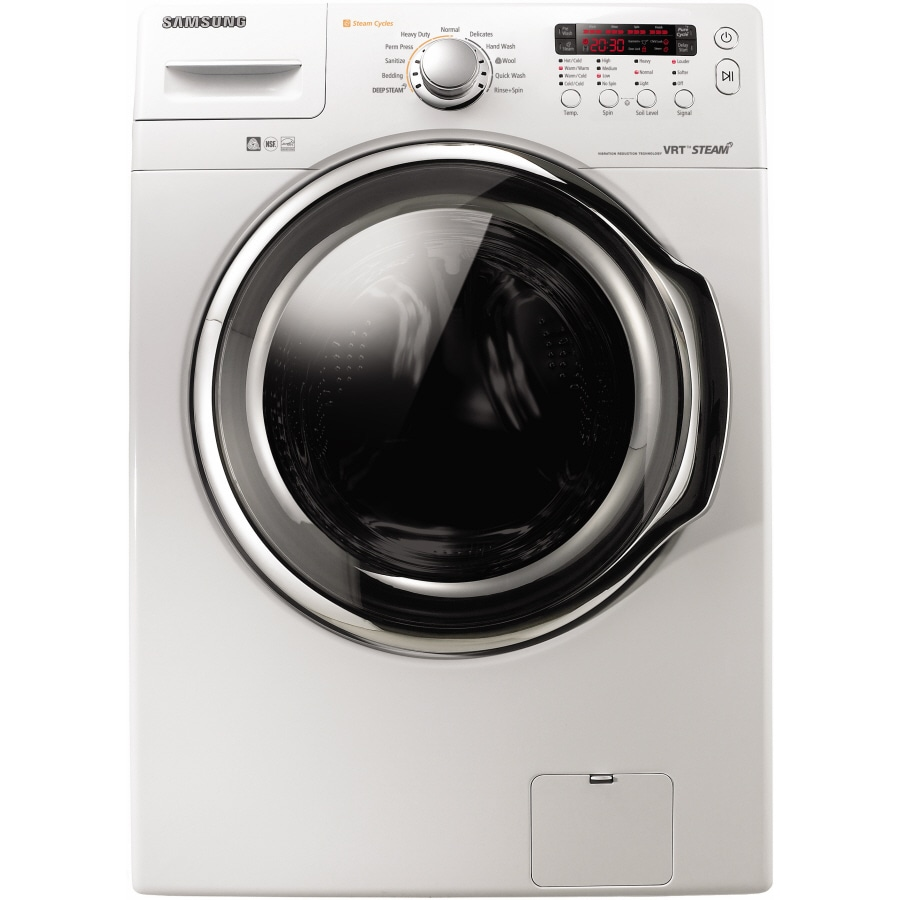 Samsung 3.7-cu ft High-Efficiency Stackable Front-Load Washer (White)