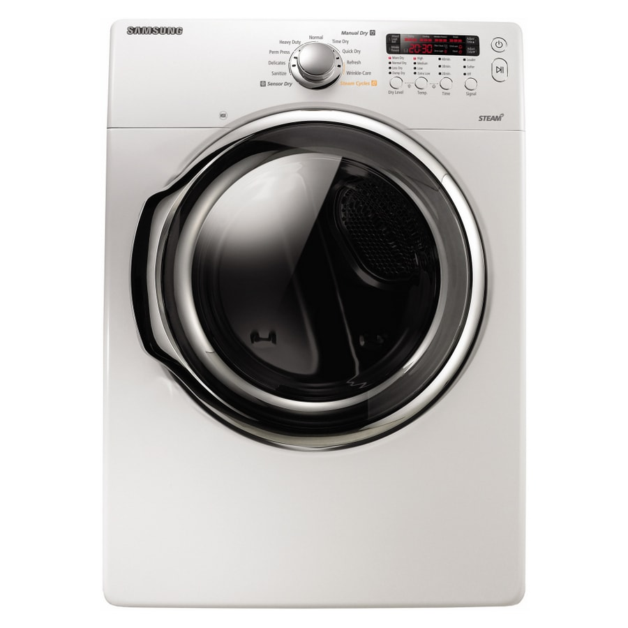 samsung 73cu ft stackable electric dryer with steam cycle white