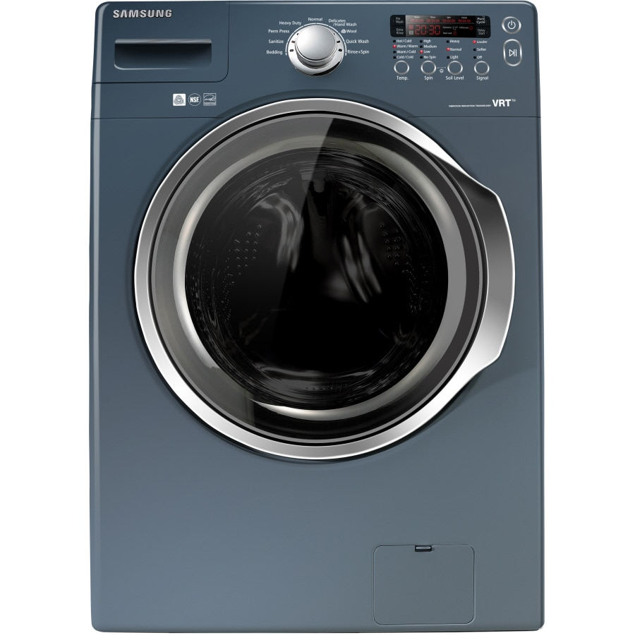 samsung 37cu ft stackable frontload washer breakwater blue