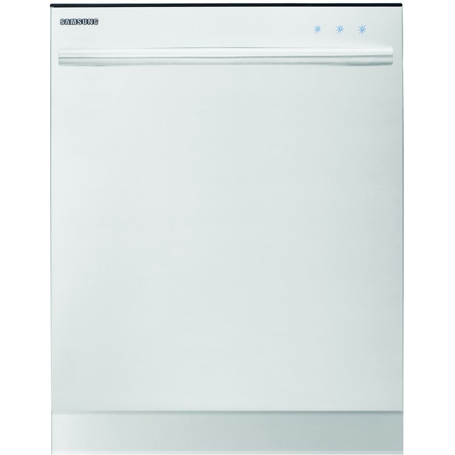 Samsung 51-Decibel Built-In Dishwasher with Hard Food Disposer and Stainless Steel Tub (White) (Common: 24-in; Actual: 23.9-in) ENERGY STAR
