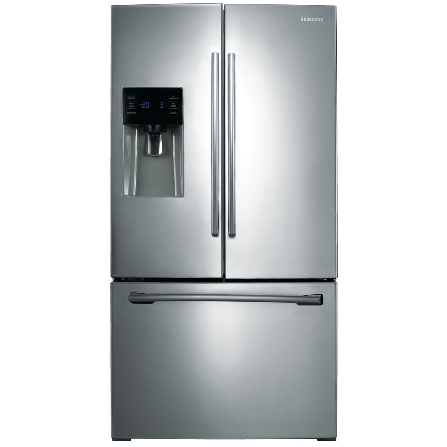 Samsung 24.6 Cu Ft French Door Refrigerator With Dual Ice Maker (Stainless  Steel)