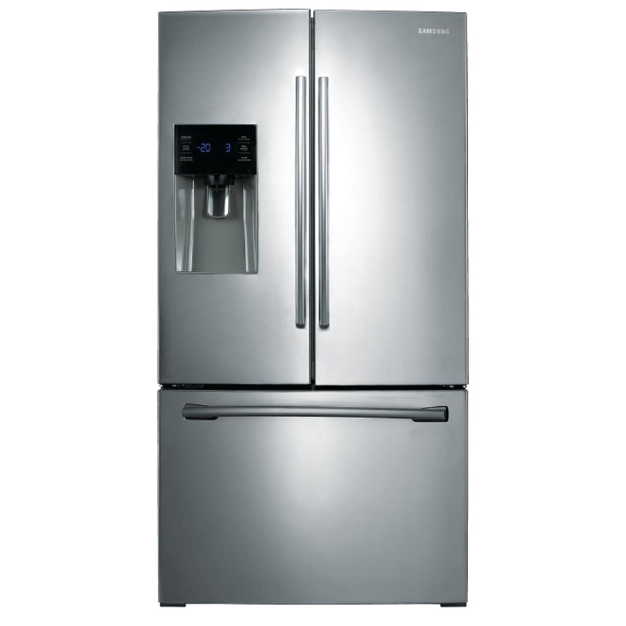 Samsung 25.6-cu ft French Door Refrigerator with Single Ice Maker (Stainless Steel) ENERGY STAR