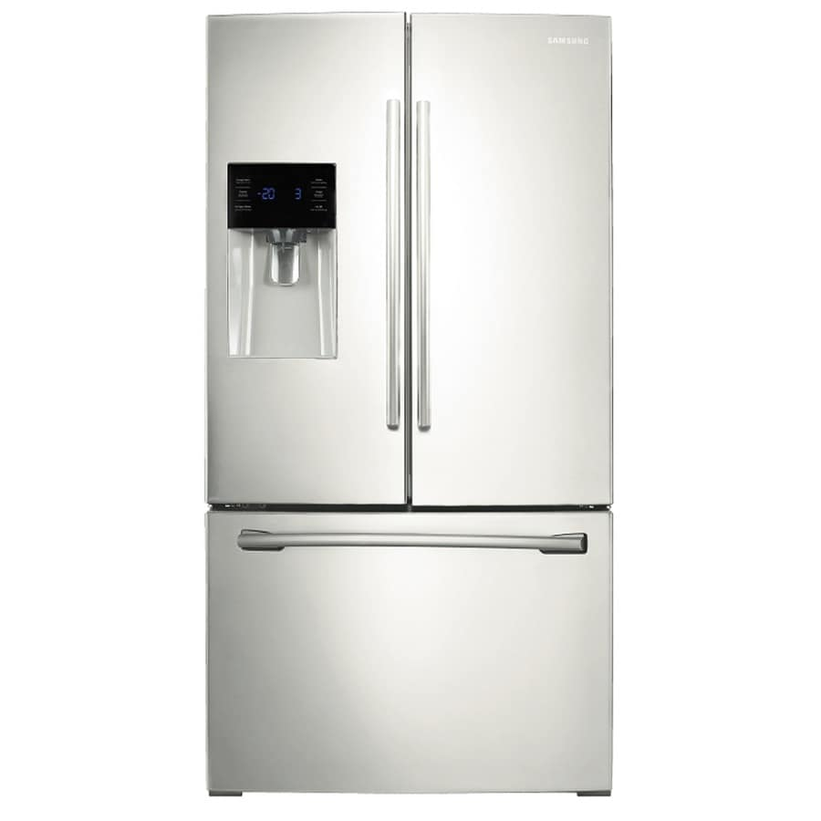 Samsung 24.6-cu ft French Door Refrigerator with Single Ice Maker (White) ENERGY STAR