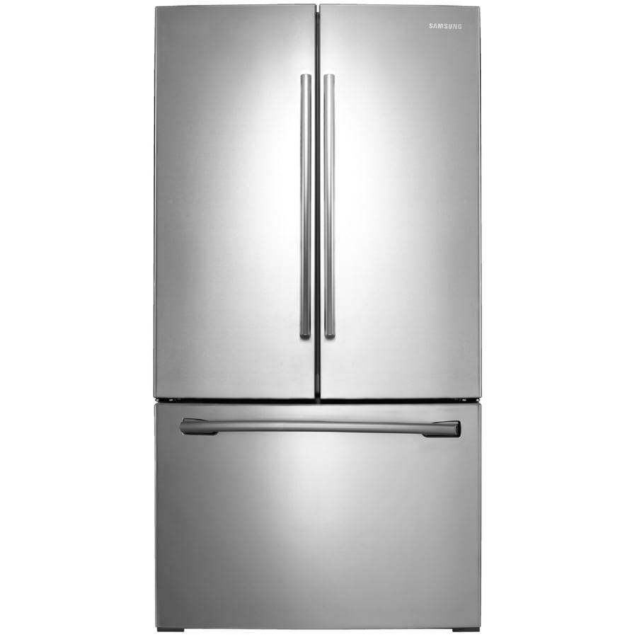 Shop samsung 255 cu ft french door refrigerator with ice maker samsung 255 cu ft french door refrigerator with ice maker stainless steel energy rubansaba