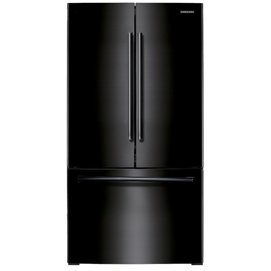 Samsung 25.5-cu ft French Door Refrigerator with Single Ice Maker (Black) ENERGY STAR