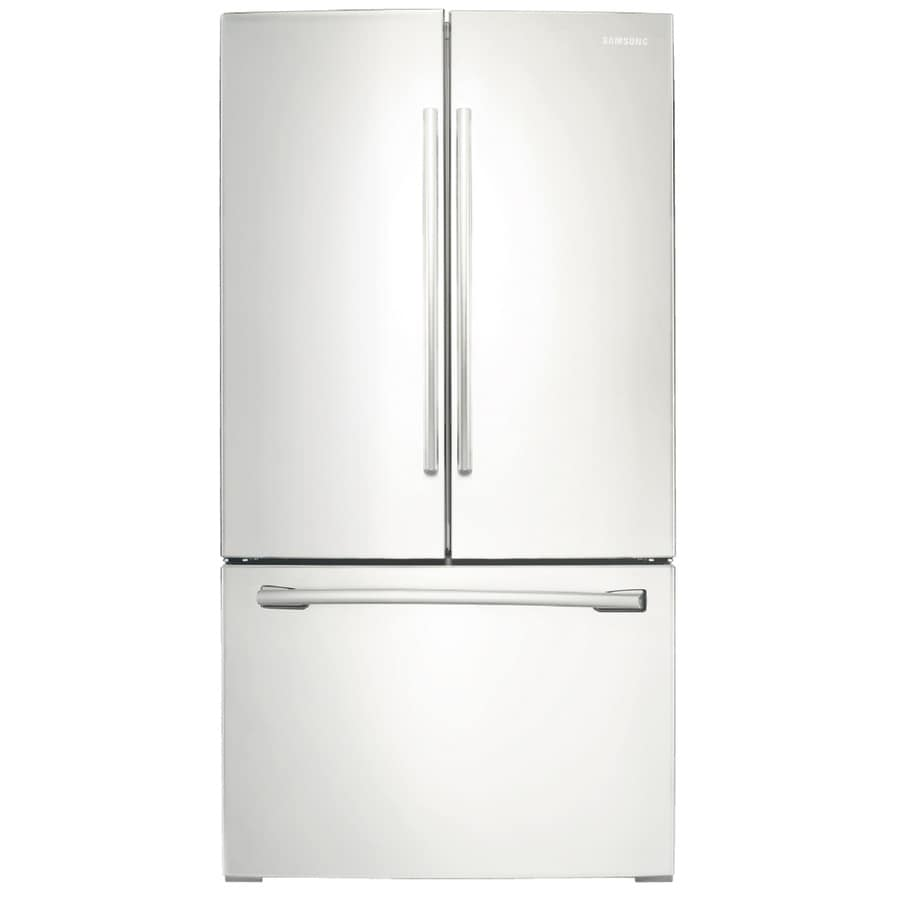 Shop samsung 255 cu ft french door refrigerator with ice maker samsung 255 cu ft french door refrigerator with ice maker white energy star rubansaba