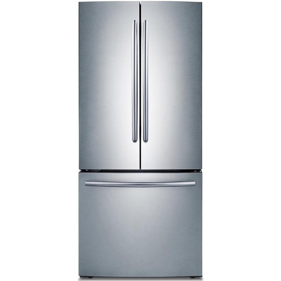 Samsung 21.8-cu ft French Door Refrigerator with Single Ice Maker (Stainless Steel)