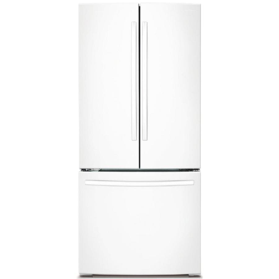 Samsung Studio 21.8-cu ft  French Door Refrigerator with Ice Maker (White)