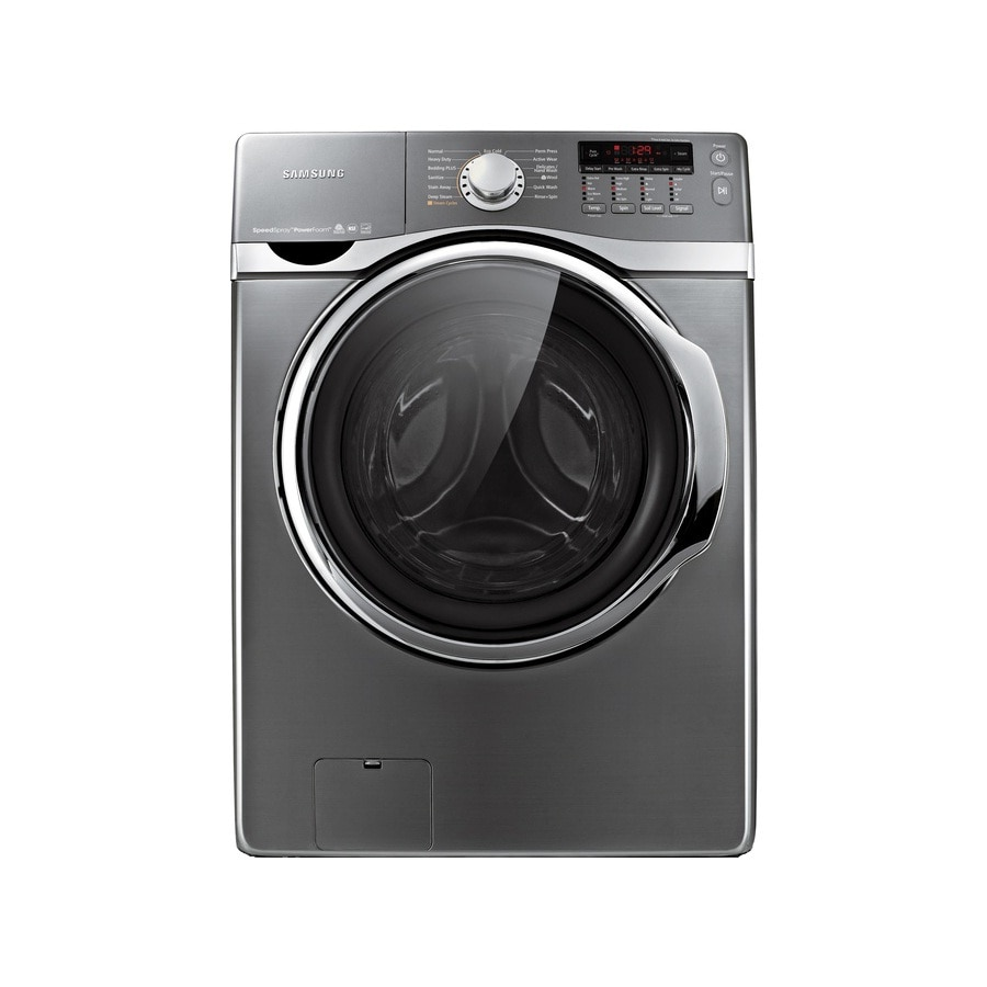 Samsung 4.0-cu ft High-Efficiency Stackable Front-Load Washer (Platinum)