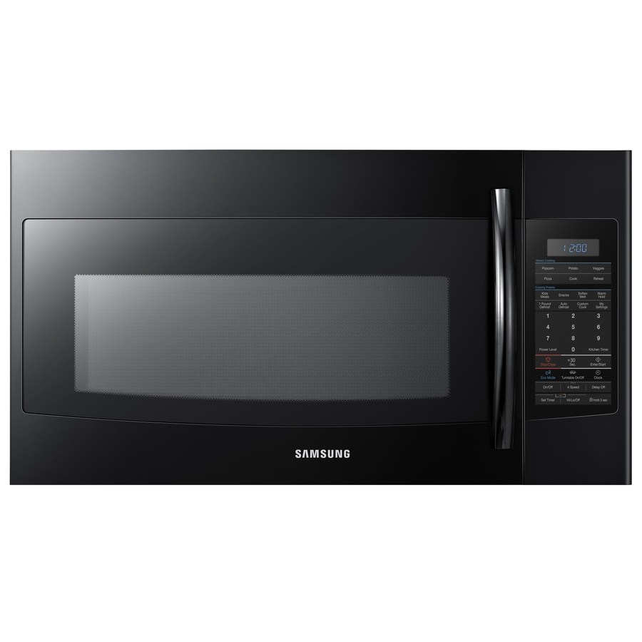 Samsung 1.9-cu ft Over-The-Range Microwave with Sensor Cooking Controls (Black) (Common: 30-in; Actual: 29.87-in)