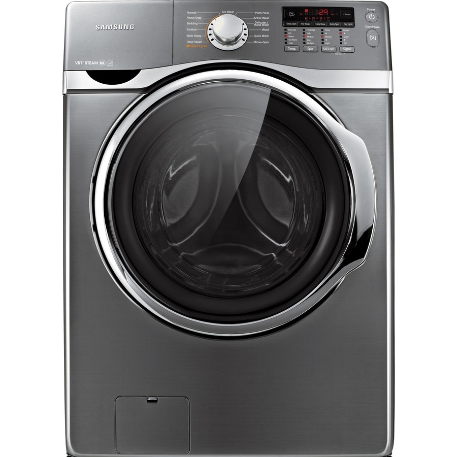 Samsung 3.9-cu ft High-Efficiency Stackable Front-Load Washer with Steam Cycle (Platinum) ENERGY STAR