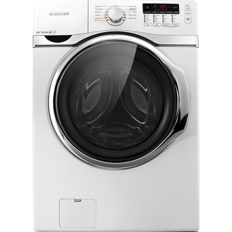 Samsung 3.9-cu ft High-Efficiency Stackable Front-Load Washer (White)