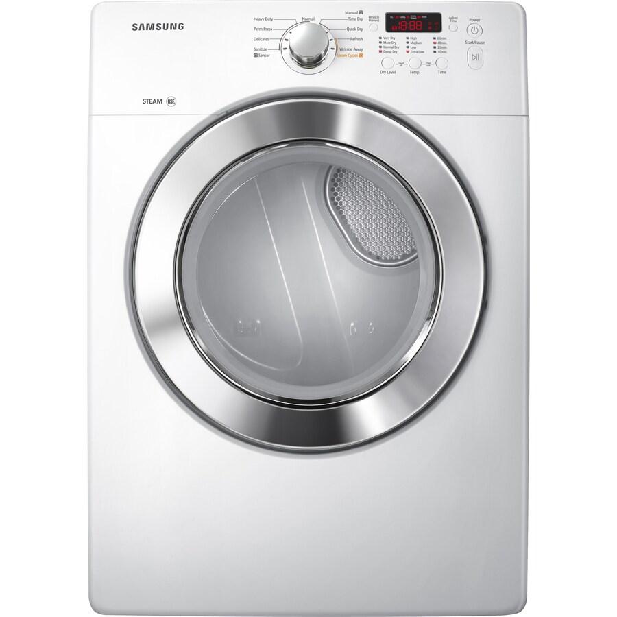 samsung 73cu ft electric dryer white