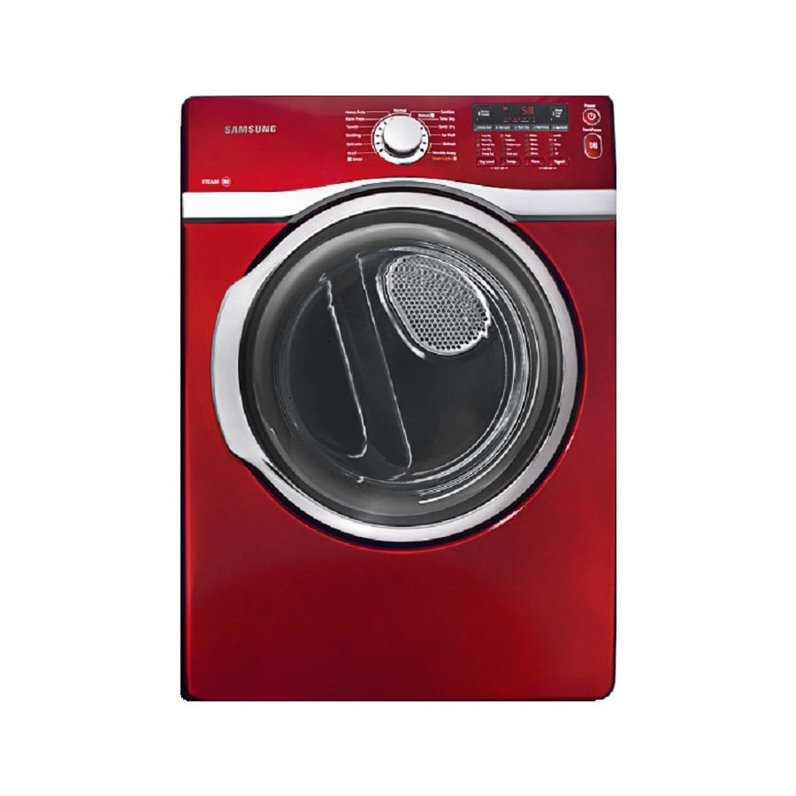 Samsung 7.4-cu ft Stackable Gas Dryer with Steam Cycle (Red)