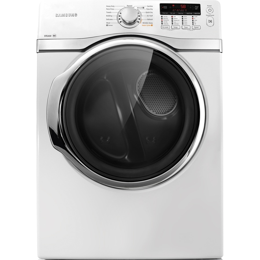 Samsung 7.4-cu ft Stackable Gas Dryer (White)