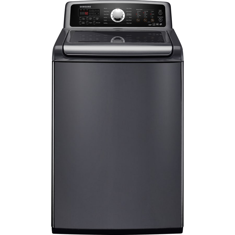 samsung top load washer shop samsung 4 7 cu ft high efficiency top load washer 12619