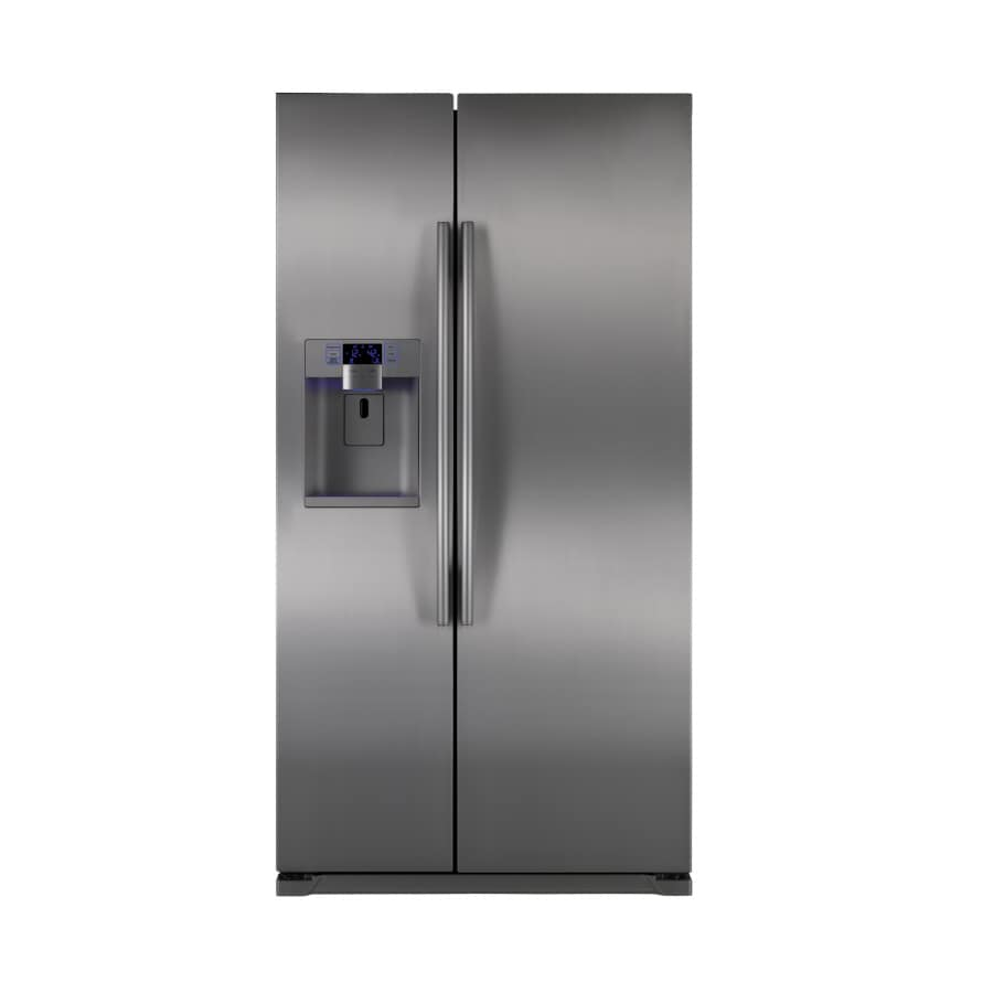 Samsung 24.5-cu ft Side-by-Side Refrigerator with Single Ice Maker (Stainless) ENERGY STAR
