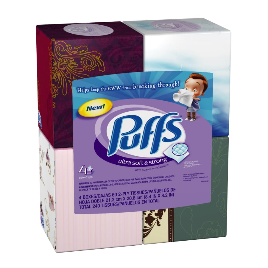 Puffs 4-Pack Facial Tissue
