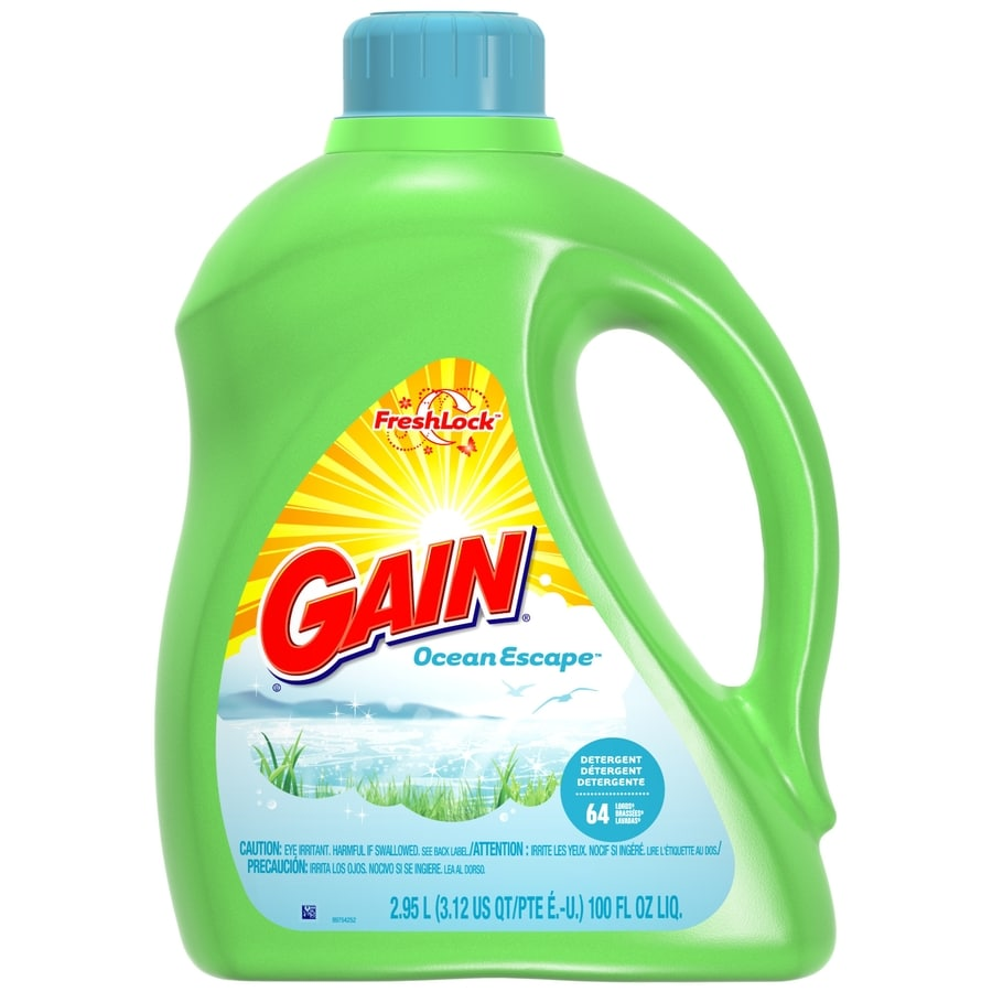 Gain Liquid 100-oz Ocean Escape Laundry Detergent