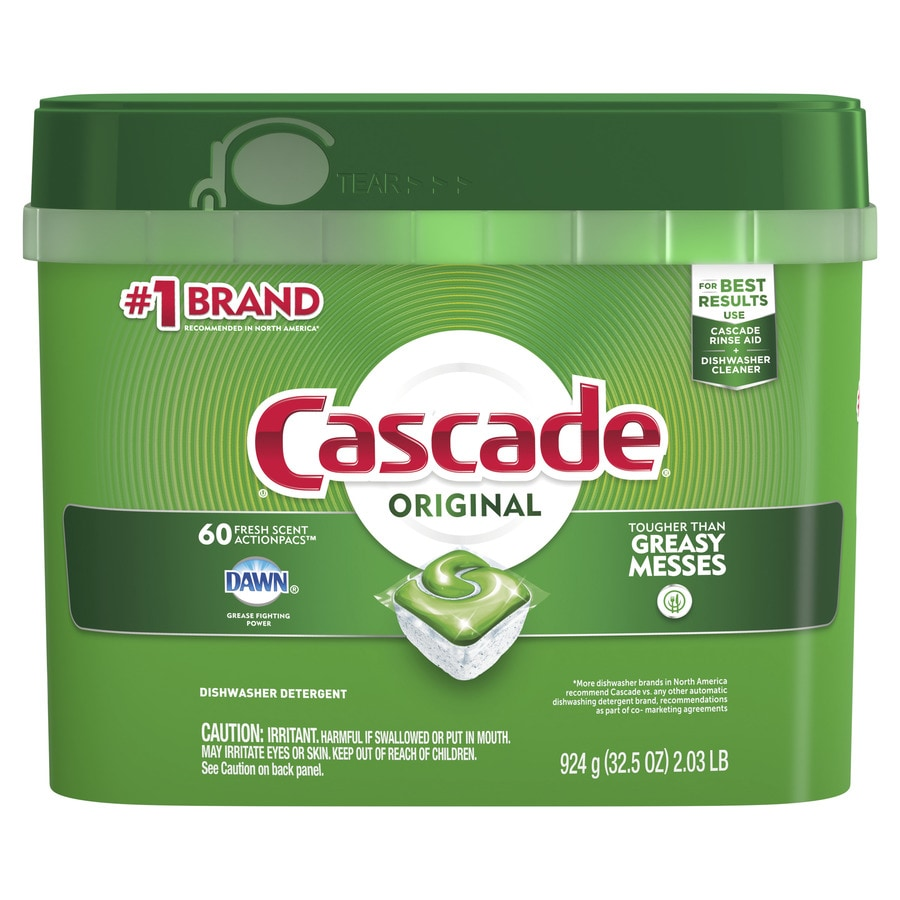 Cascade 60-Pack Regular Dishwasher Detergent