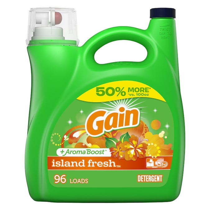 Gain 150 Fl Oz Island Fresh He Laundry Detergent In The Laundry