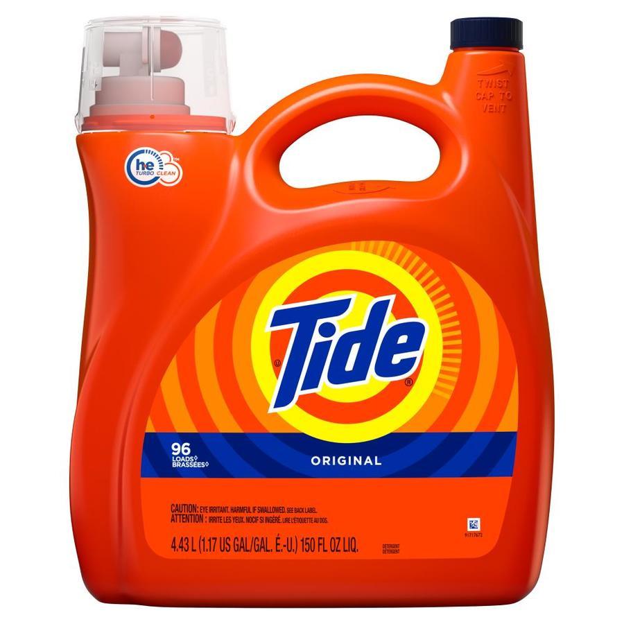 Wash Clothes Liquid Detergent: Tide 150-fl Oz Original HE Liquid Laundry Detergent At