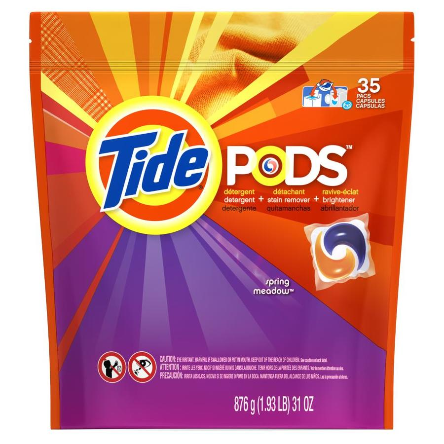 Tide Pods 35-Count Spring Meadows HE Laundry Detergent