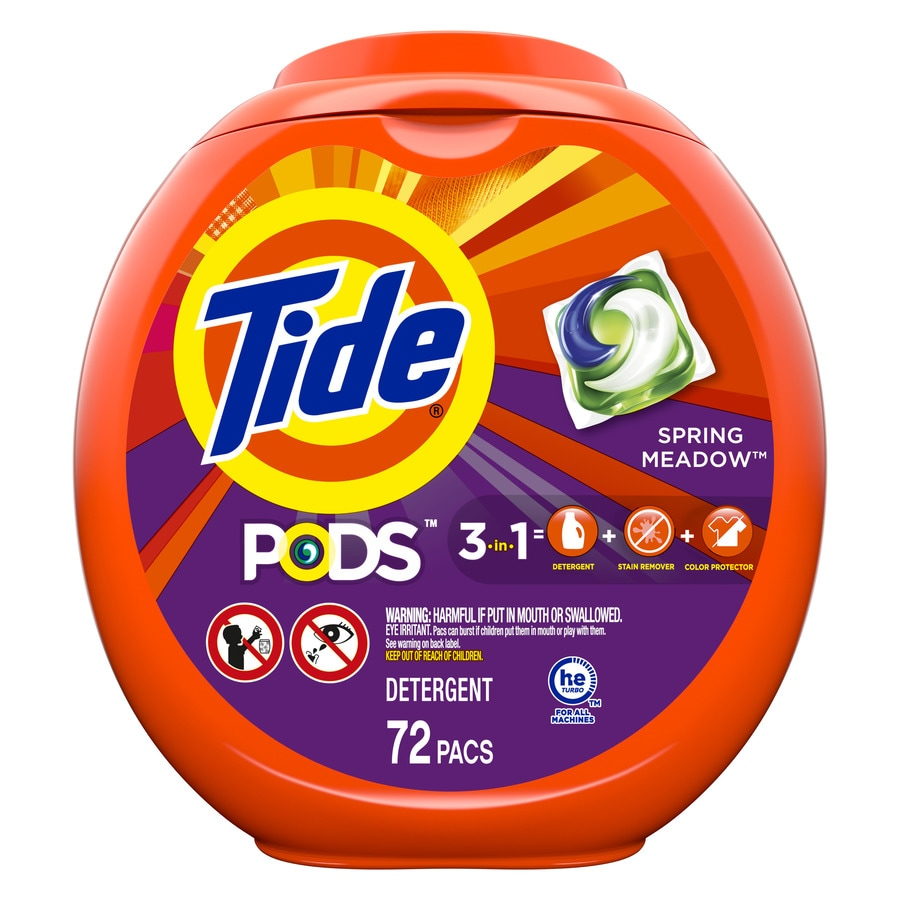 Tide Pods 72-Count Spring Meadow High-Efficiency Laundry Detergent
