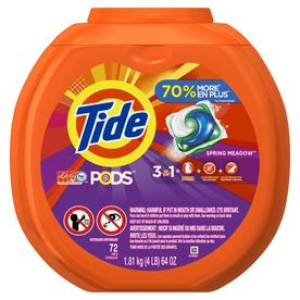 Tide Pods 72 Count Spring Meadow HE Capsules Laundry Detergent