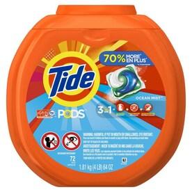Tide 72 Count Ocean Mist HE Laundry Detergent