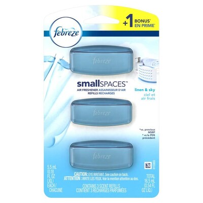 Gel Air Freshener >> 3 Pack Linen And Sky Gel Air Freshener