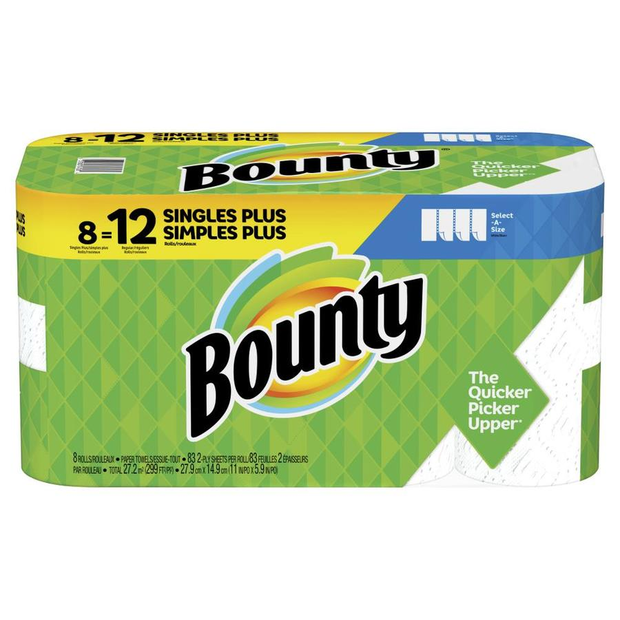 Bounty Paper Towels Fall Prints: Bounty Select-A-Size Paper Towels, White, 8 Giant Rolls At