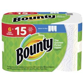 Bounty Select-A-Size Paper Towels, White, 6 Huge Rolls