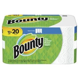 Bounty Select-A-Size Paper Towels, White, 12 Mega Rolls