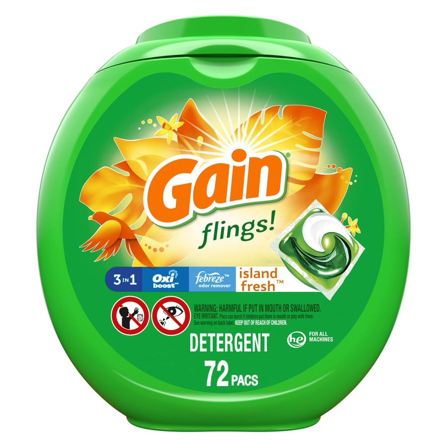 Gain Flings 72 Count Island Fresh He Capsules Laundry