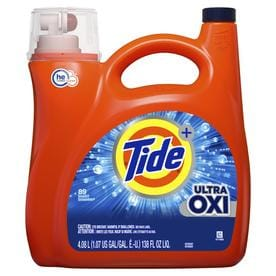 Tide Plus Ultra Oxi Liquid Laundry Detergent - 138 fl oz