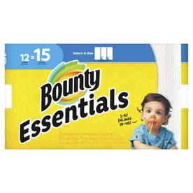 Bounty Essentials Select A Size 12-Count Paper Towels
