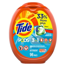 Tide Pods 96-Count Clean Breeze HE Laundry Detergent