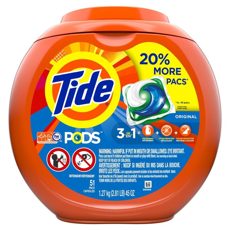 Tide Liquid Detergent Pods Orig 51ct Bonus Tub at Lowes com