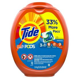 Tide Pods Liquid Laundry Detergent Pacs, Original, 96