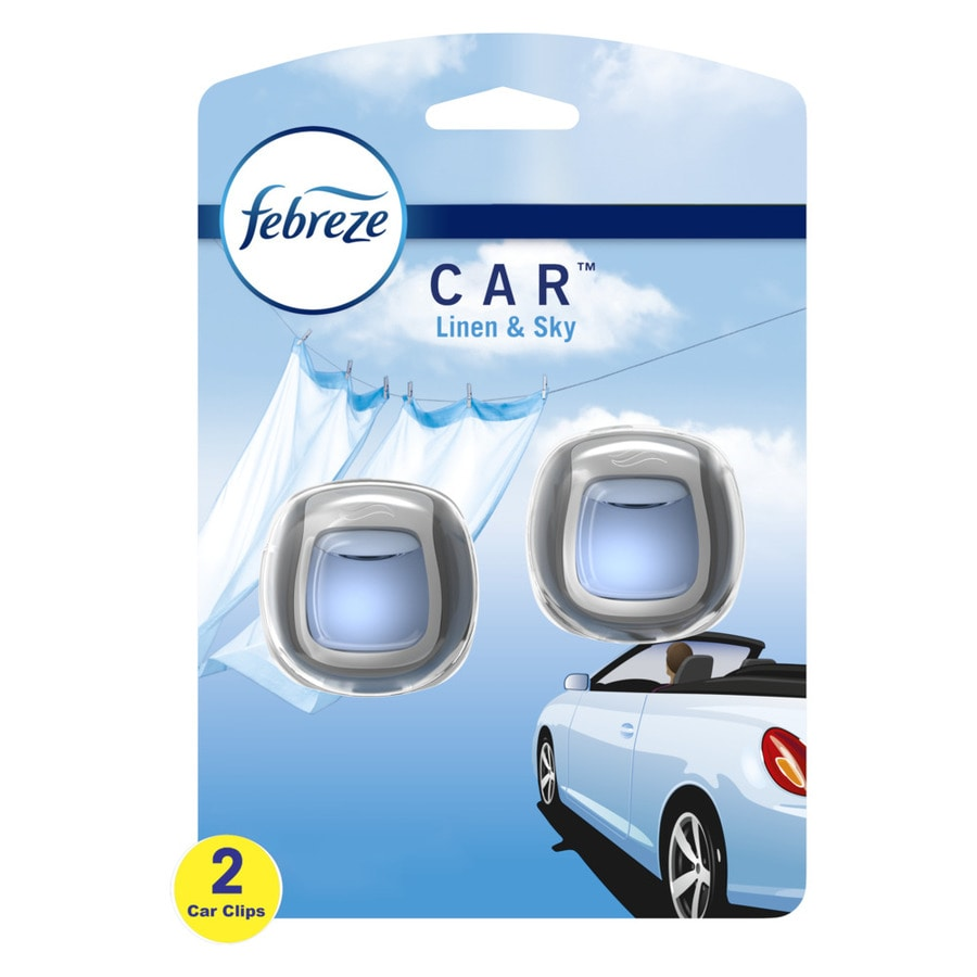 Febreze Car Air Freshener Linen and Sky (2 , 0.13 oz)