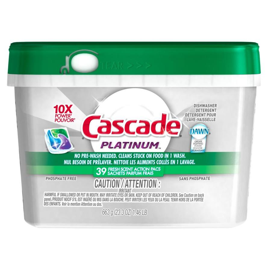 Cascade 39-Count Fresh Dishwasher Detergent