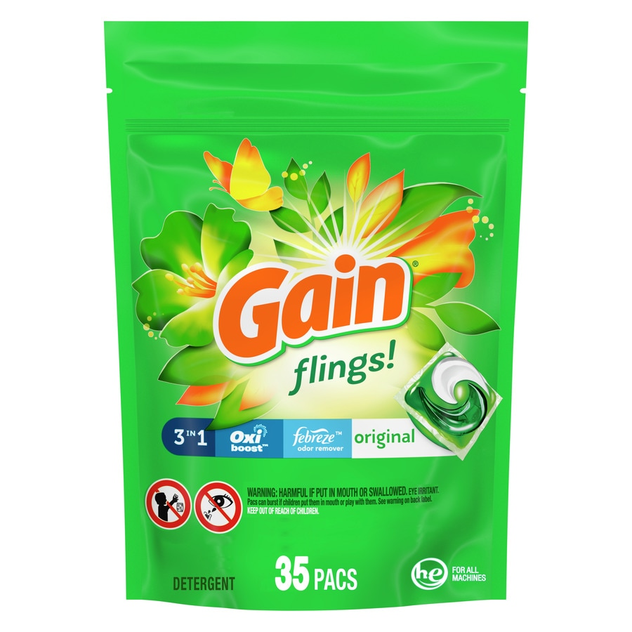 Gain 35-Count Febreze HE Laundry Detergent